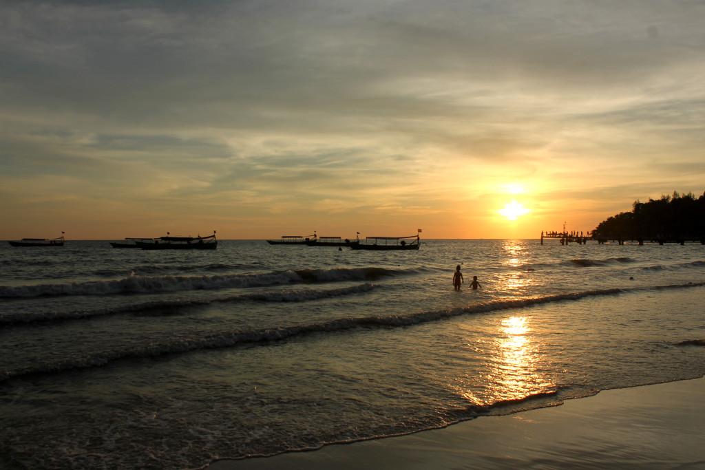 Kambodžská pláž